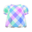 Plaid Puffed-Sleeve Shirt (Dreamy Plaid) NH Icon.png
