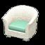 Rattan Armchair (White)