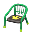 Baby Chair (Green - Paw Print) NH Icon.png