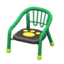 Baby Chair (Green - Paw Print)