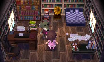 Interior of Dobie's house in Animal Crossing: New Leaf
