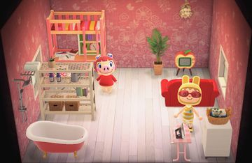 Interior of Peggy's house in Animal Crossing: New Horizons