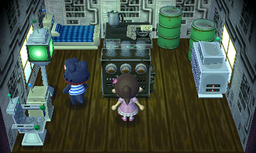 Interior of Del's house in Animal Crossing: New Leaf
