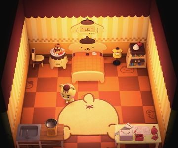 Interior of Marty's house in Animal Crossing: New Horizons
