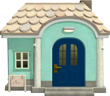 Exterior of Tia's house in Animal Crossing: New Horizons