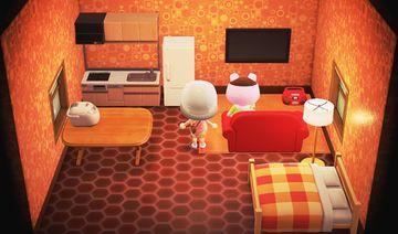 Interior of Truffles's house in Animal Crossing: New Horizons