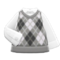 Argyle Vest (Gray) NH Icon.png