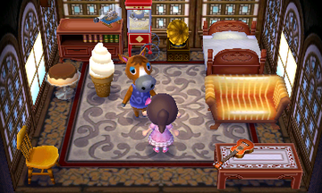 Interior of Elmer's house in Animal Crossing: New Leaf