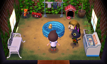 Interior of Mac's house in Animal Crossing: New Leaf