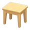Wooden Mini Table (Light Wood - None) NH Icon.png