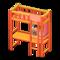 Loft Bed with Desk (Orange - Orange) NH Icon.png