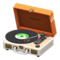 Portable Record Player (Orange) NH Icon.png