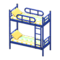 Bunk Bed (Blue - Colorful Lines) NH Icon.png