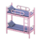 Bunk Bed (Pink - Striped) NH Icon.png