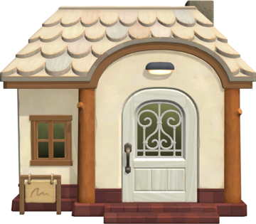 Exterior of Fang's house in Animal Crossing: New Horizons