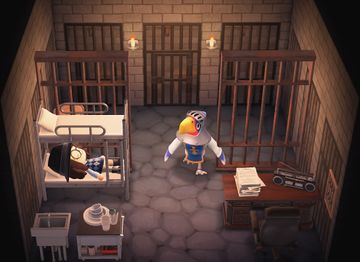 Interior of Sterling's house in Animal Crossing: New Horizons