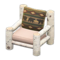 Log Chair (White Birch - Bears) NH Icon.png