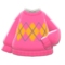 Argyle Sweater (Pink) NH Icon.png