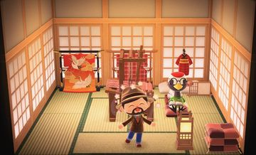 Interior of Gladys's house in Animal Crossing: New Horizons