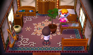 Interior of Margie's house in Animal Crossing: New Leaf