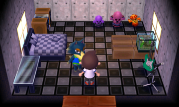 Interior of Wolfgang's house in Animal Crossing: New Leaf