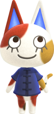 Purrl, an Animal Crossing villager.