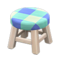 Wooden Stool (White Wood - Blue) NH Icon.png