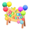 Birthday Sign (Colorful) NH Icon.png