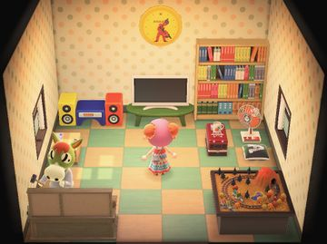 Interior of Buck's house in Animal Crossing: New Horizons