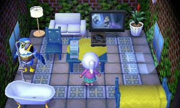 Interior of Pierce's house in Animal Crossing: New Leaf