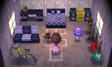 Interior of Static's house in Animal Crossing: New Leaf