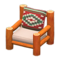 Log Chair (Orange Wood - Southwestern Flair) NH Icon.png