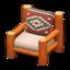 Log Chair (Orange Wood - Southwestern Flair)