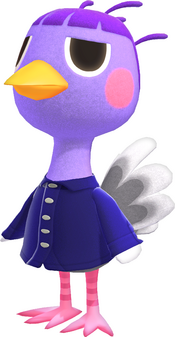 Queenie, an Animal Crossing villager.
