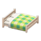 Wooden Double Bed (White Wood - Green) NH Icon.png