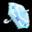 Blue Shiny-Bows Parasol