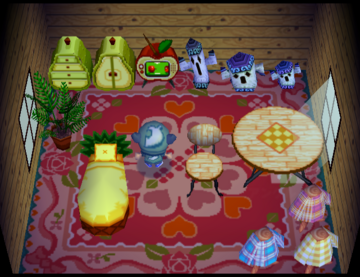 Interior of Cally's house in Animal Crossing