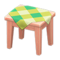 Wooden Mini Table (Pink Wood - Green) NH Icon.png