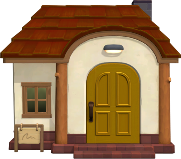 Exterior of Clyde's house in Animal Crossing: New Horizons