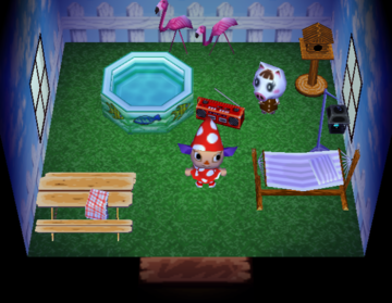 Interior of Lucy's house in Animal Crossing