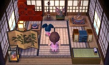 Interior of Greta's house in Animal Crossing: New Leaf