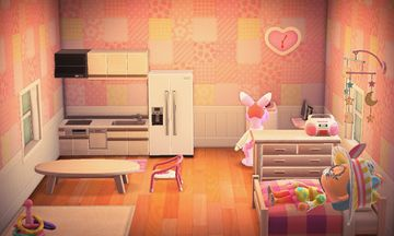 Interior of Marcie's house in Animal Crossing: New Horizons