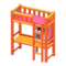 Loft Bed with Desk (Orange - Pink) NH Icon.png