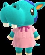 Artwork of Bertha the Hippo