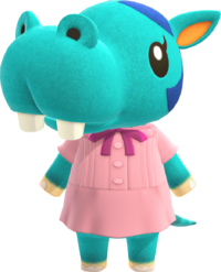 Bertha, an Animal Crossing villager.