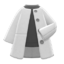 Collarless Coat (Gray) NH Icon.png