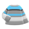 Colorful Striped Sweater (Gray, White & Light Blue) NH Icon.png