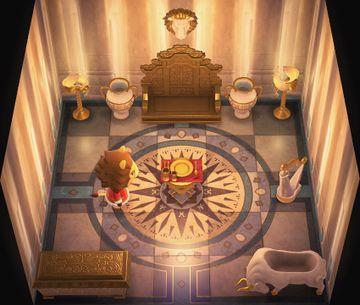 Interior of Elvis's house in Animal Crossing: New Horizons