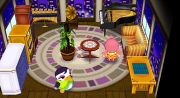 Interior of Gwen's house in Animal Crossing: City Folk