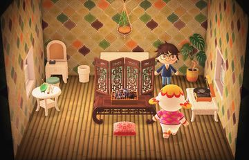 Interior of Margie's house in Animal Crossing: New Horizons